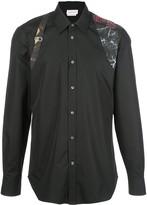 Alexander McQueen floral strap button-up shirt