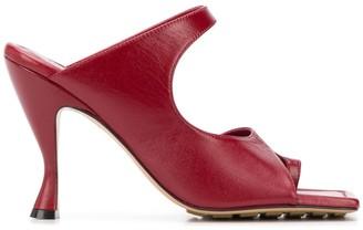 Bottega Veneta square-toe 90mm sandals