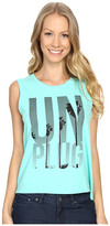 Life is Good Unplug Palm Trees Muscle Tee