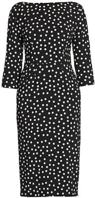 Dolce & Gabbana Three-Quarter Sleeve Polka Dot Dress