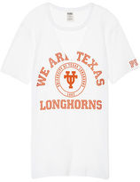 PINK University Of Texas Cutout Campus Tee