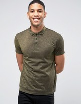 Asos Premium Polo Shirt In Gold