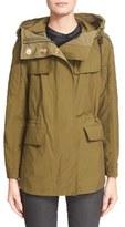 Burberry Women's 'Parkfield' Hooded Drawstring Waist Jacket