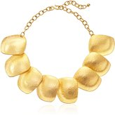 Kenneth Jay Lane Large Satin -Plated Disc Necklace