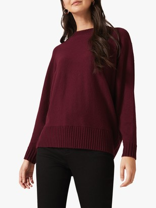 Phase Eight Palmer Boxy Knit Jumper, Burgundy