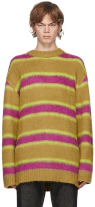 ANDERSSON BELL Tan and Pink Stripe Alpaca Sweater