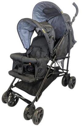 Aussie Baby Vitesse Deux Tandem Stroller - Black