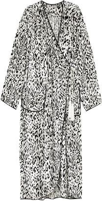 Alessandra Rich Leopard-print Velvet Robe