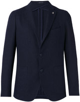 Tagliatore Montecarlo jacket - men - Cotton/Linen/Flax/Polyamide/Cupro - 48