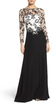 Tadashi Shoji Women's Embroidered Lace & Crepe Gown