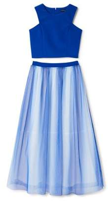My Michelle Two Piece Ombre Maxi Formal Dressy Dress (Big Girls)
