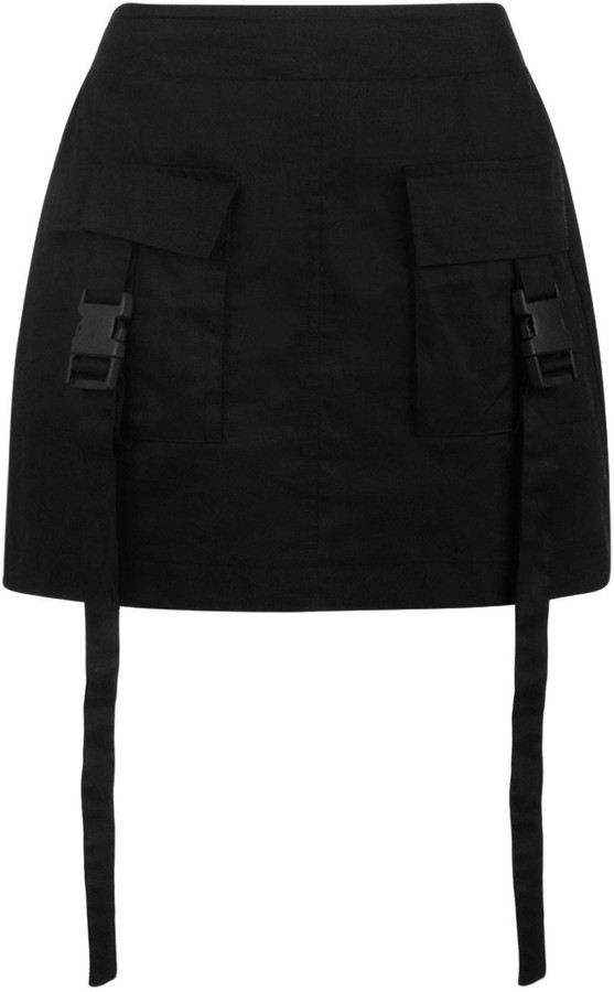 Thumbnail for your product : boohoo Woven Cargo Utility Pocket Mini Skirt