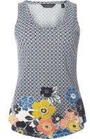 Dorothy Perkins Womens Multi Coloured Floral Print Vest- Blue