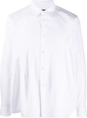 Comme des Garcons Diagonal-Panelled Cotton Shirt