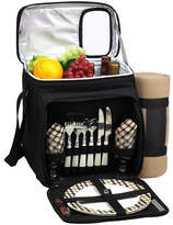 Picnic at Ascot Picnic Basket/Cooler Equipped for 2 w/Blanket- Black/London