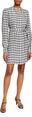 Joie Blandina Checked Shirtdress
