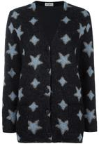 Saint Laurent star print oversized cardigan - women - Silk/Nylon/Polyester/Wool - XS