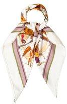 Hermes Chevaux Arabes Silk Scarf