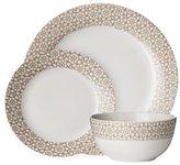 Avie Casablanca 12 Piece Porcelain Dinner Set