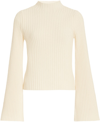Cordova Solitude Ribbed-Knit Wool-Cashmere Top