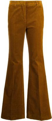 Brag Wette High-Rise Flared Corduroy Trousers