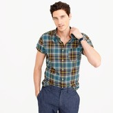 J.Crew Short-sleeve madras shirt in dusty turnip