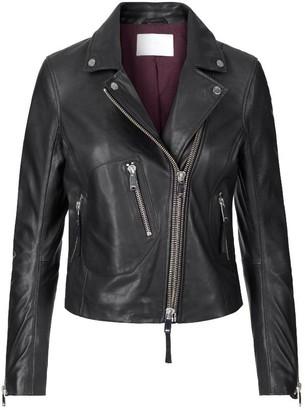 2nd Day Jess Leather Biker Jacket - Black / XS