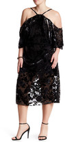 ABS by Allen Schwartz Off-The-Shoulder Velvet Burnout Dress (Plus Size)