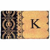 Asstd National Brand Imperial Heirloom Monogram Rectangular Doormat