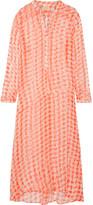 Cloe Cassandro - Andrea Printed Silk-chiffon Maxi Dress - Coral