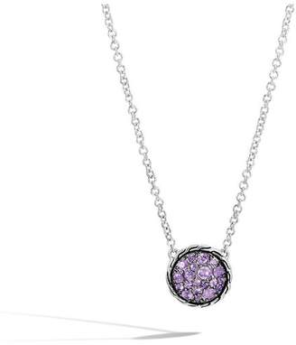 John Hardy Classic Chain Round Necklace With Amethyst