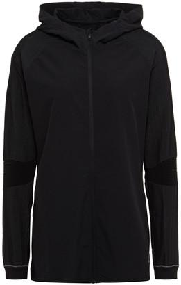 adidas Ribbed Knit-paneled Stretch Hooded Track Jacket
