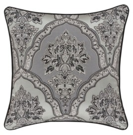 """J Queen New York Silverstone 20"""" Square Decorative Throw Pillow, 20"""" x 20"""" Bedding"""