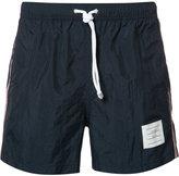 Thom Browne side stripe swim shorts - men - Nylon - 1