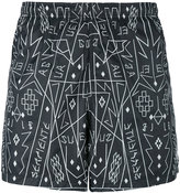 Marcelo Burlon County of Milan Elvio swimming trunks - men - Polyamide/Polyester/Spandex/Elastane - M