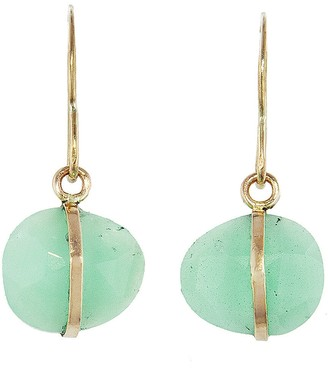 Melissa Joy Manning Chrysoprase Single Drop Earrings