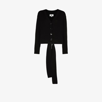 MM6 MAISON MARGIELA Knitted Tie Front Cardigan