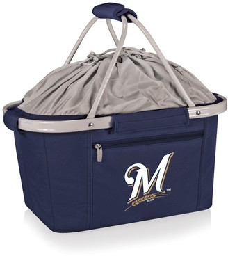 Picnic Time Milwaukee Brewers Insulated Picnic Basket