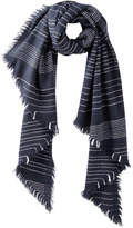 Joe Fresh Women's Stripe Blanket Scarf, JF Midnight Blue (Size O/S)