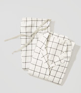 LOFT Windowpane Pajama Set