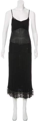 Chanel Rib Knit Midi Dress