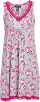 Rene Rofe Gray & Pink Floral Sweet Sleep Nightgown - Plus Too
