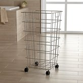 Crate & Barrel Wire Hamper with Wheels