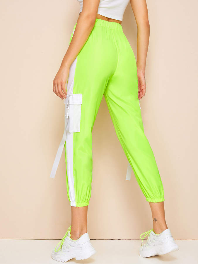 7d1a3045a5 Green Elastic Waist Women's Pants - ShopStyle