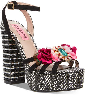 Betsey Johnson Marlo Platform Sandals Women Shoes