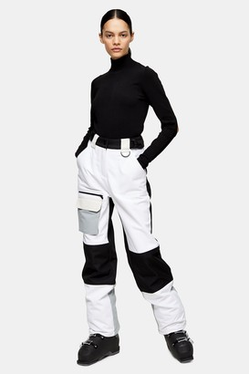 Topshop Womens **Black And White Ski Trousers By Sno - Monochrome
