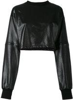 Numero 00 Numero00 - zipped sleeves cropped blouse - women - Cotton - L
