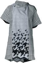 Sacai draped neck shift dress - women - Cotton - 1