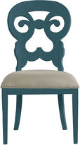 One Kings Lane Wayfarer Side Chair, Blue/Taupe