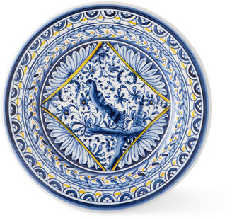 Neiman Marcus Pavoes Blue and Yellow Salad Plates, Set of 4